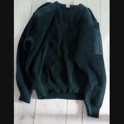 Pull militaire col en V fabricant Gilles 1996 taille 104 Homme (C198 - 029)
