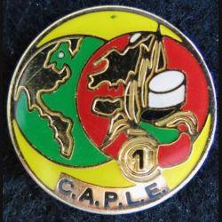 CAPLE 1° RE : pin's métallique de la compagnie administrative du personnel de la Légion étrangère