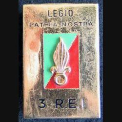 3° REI : 3° régiment étranger d'infanterie de fabrication Drago Paris en émail