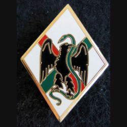 1° REI : insigne métallique du 1° régiment étranger d'infanterie de fabrication Drago G. 1198