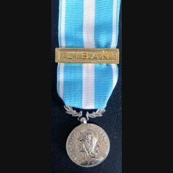 """FRANCE : médaille d'outre mer agrafe """" Liban """" en métal argenté de fabrication libanaise (rare)"""