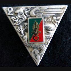 2° REP : Insigne métallique du 2° régiment étranger de parachutistes de fabrication Boussemart 2001 G. 1948