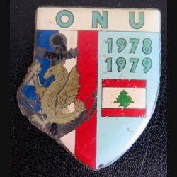 8° RPIMA : plaque sans fond du 8° régiment d'infanterie de marine ONU 1978-1979 LIBAN