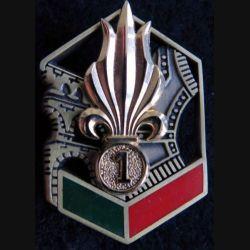 1° REG : insigne métallique du 1° régiment étranger de Génie G. 4635
