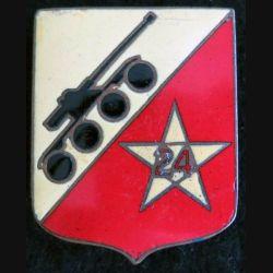 24° RSM : 24° régiment de spahis marocains Drago G. 1609 en émail avec un petit éclat