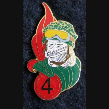 4° REI : Pin's du 4° régiment étranger d'infanterie légionnaire casqué  Ségalen collection