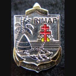 RIMAP : insigne métallique en réduction du régiment d'infanterie de marine de Polynésie