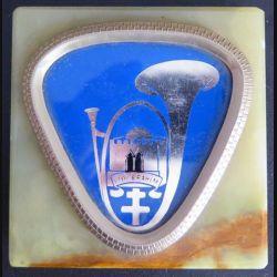 8° BCP : plaque du 8° bataillon de chasseurs à pieds sur marbre
