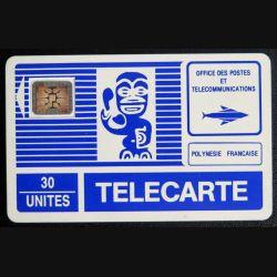 TELECARTE : télécarte polynésie française rare numérotée 17376