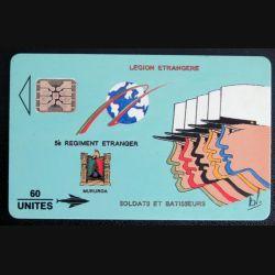 TELECARTE : télécarte 5° Régiment étranger de la Légion en plolynésie Mururoa