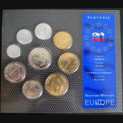 SLOVENIE : dernières monnaies en Tolar de la Slovénie sous blister plastique