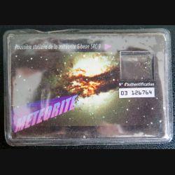 Poussière Stellaire de la météorite Gibeon SRC 3 n° d'authentification 03 126764