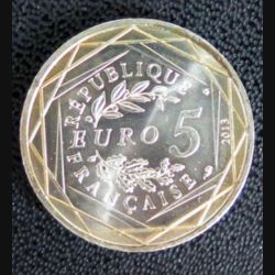 FRANCE : pièce de 5 euros argent Fraternité 2013