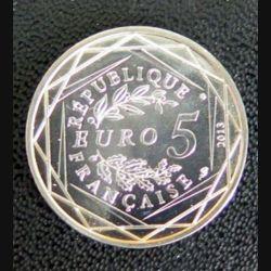 FRANCE : pièce de 5 euros argent Egalité 2013