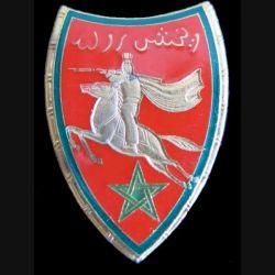 22° RSM : 22° régiment de spahis marocains de fabrication Drago Paris G. 452 en émail