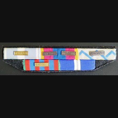 Rappel de 5 décorations Légion Tchad et Ex Yougoslavie