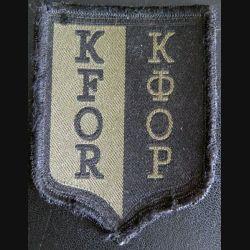 insigne tissu basse visibilité K FOR sur scratch 6,5 x 8,8 cm