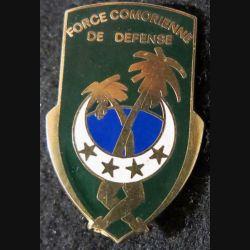 FCD : insigne métallique de la force comorienne de défense de fabrication Delsart