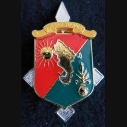 DLEM ECS : insigne métallique de l'ECS du détachement de la légion étrangère à Mayotte  Balme Saumur 1997 - 2007