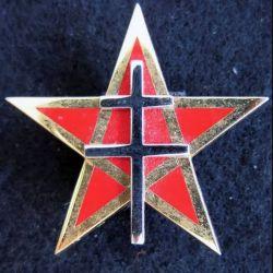 1° RS : insigne métallique du 1° régiment de spahis de fabrication Arthus Bertrand G. 4478