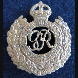 ANGLETERRE : insigne de béret Royal Engineers armée britannique bronze ajouré