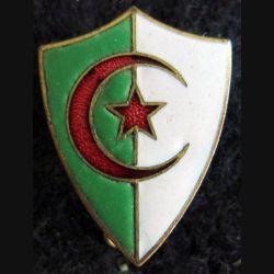 BLASON ALGERIE : insigne métallique blason en émail de l'Algerie 23 x 17 mm