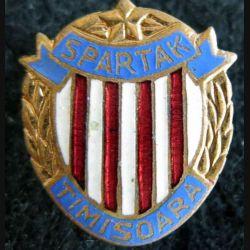 ROUMANIE : insigne métallique du  spartak de Timisoara en émail