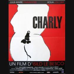 """AFFICHE FILM : affiche de cinéma du film """"Charly"""" 2007 dimension 40 x 54 cm (E003)"""