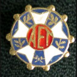 AET : boutonnière des anciens enfants de troupe en émail