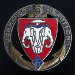 6° CL : insigne du 6° commando laotien Drago Béranger numéroté 933