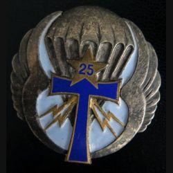 25° DP : compagnie de transmissions de la 25° division parachutiste Drago Béranger H.539 émail