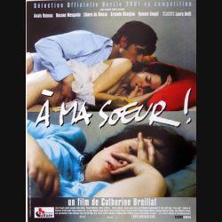 """AFFICHE FILM : affiche de cinéma du film """"À Ma Soeur !"""" 2001 dimension 40 x 54 cm (E004)"""