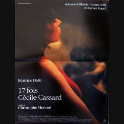 """AFFICHE FILM : affiche de cinéma du film """"17 fois Cécile Cassard"""" 2002 dimension 40 x 54,5 cm (E004)"""