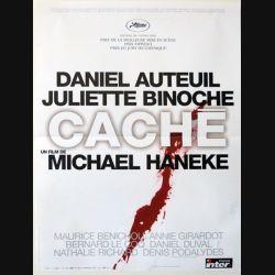 """AFFICHE FILM : affiche de cinéma du film Caché"""" 2005 dimension 40 x 53,5 cm (E005)"""