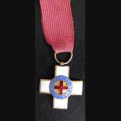 INCONNU : Médaille de secours secourere et spera (secours et confiance) en émail