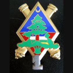 64° RAA : insigne de la 1° batterie du 64° régiment d'artillerie d'Afrique Liban fabrication LR Paris