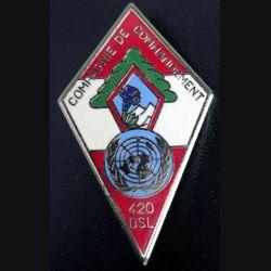 27° DA : Compagnie de commandement du 420° DSLde la 27° division alpine 12° mandat 1984 Delsart