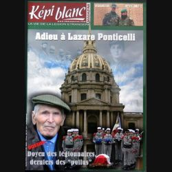 Revue du képi Blanc n° 698 de Avril 2008 Adieu à Lazare Ponticelli (N1)