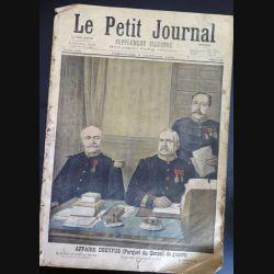 Le petit journal supplément illustré N° 372 du dimanche 2 janvier 1898 Affaire Dreyfus (C179)