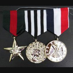 MEDAILLES JOUETS : groupe de 3 Médailles ordonnance pour déguisemant enfants en métal embouti