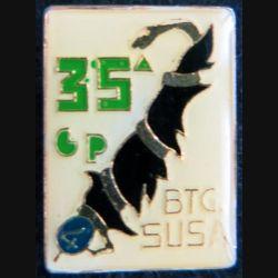 ITALIE : insigne en réduction de la 35° Compagnia Battaglione Susa 4° Alpini 1970 plastifié