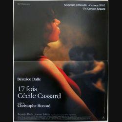 """AFFICHE FILM : affiche de cinéma du film """"17 fois Cécile Cassard"""" 2002 dimension 40 x 54 cm (E010)"""