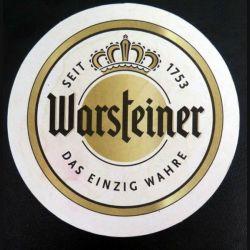DESSOUS DE VERRE A BIÈRE : Dessous de verre à bière Warsteiner de diamètre 10,7 cm