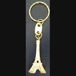 PORTE CLES : porte clés Tour Eiffel de Paris dorée