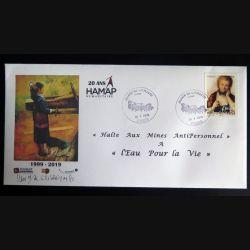 Enveloppe 1° jour du 20° anniversaire des 20 ans de l'ONG HAMAP-Humanitaire 1999-2019
