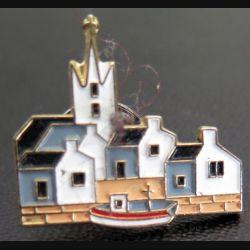 Pin's de port breton doré à l'Or fin