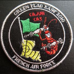 Insigne tissu Green flag east 2010 French Air Force Escadron de chasse 3/3 Ardennes