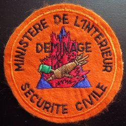 Insigne patch écusson tissu du Groupe déminage de la sécurité civile