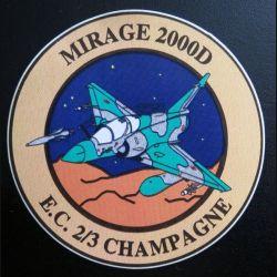 Autocollant de l'EC 2/3 Champagne sur mirage 2000 D