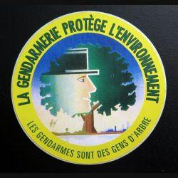 Autocollant de la gendarmerie protège l'environnement